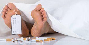 Tod durch Rauchen